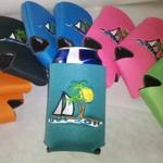 Customized vacation Koozies.