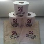 Embroidered toilet paper and hand towels!